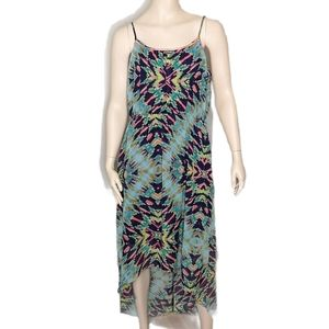 Maurices Hi-Lo Lined Spaghetti Strap Summer Dress